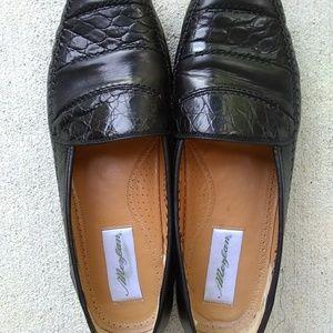 Mezlan Saragossa Crocodile Black Loafers Size 11 M